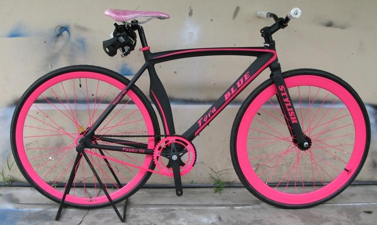 Black and pink fixie  byTeraBlue