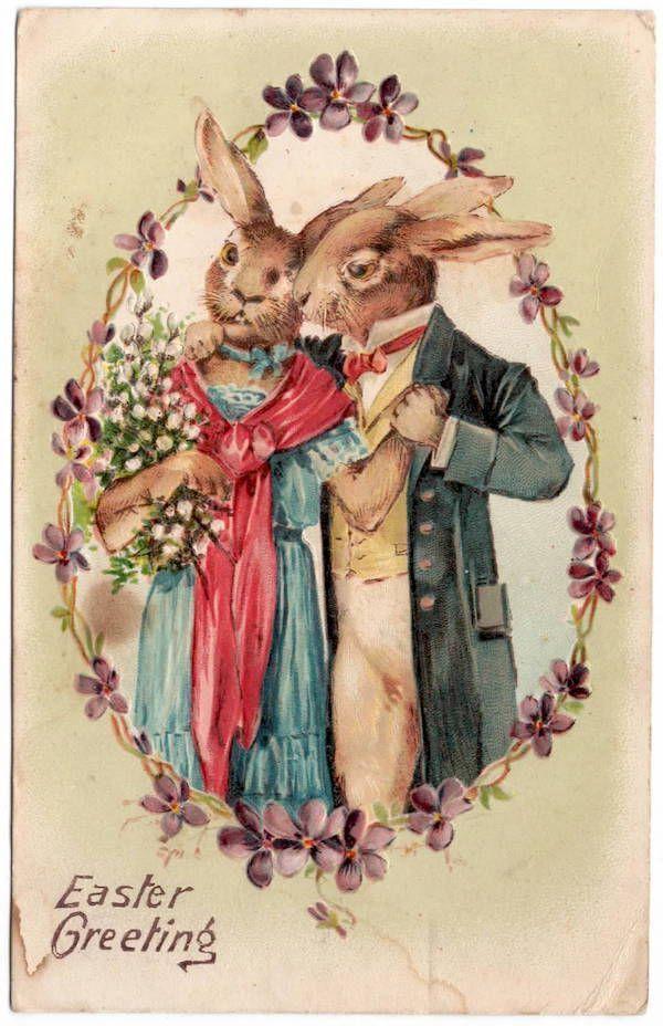 Easter-Postcard-Well-Dressed-Bunny-Rabbit-Couple-106332.jpg (JPEG-Grafik, 600 × 928 Pixel) - Skaliert (96%)