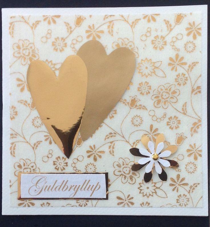 Indbydelse guldbryllup #card