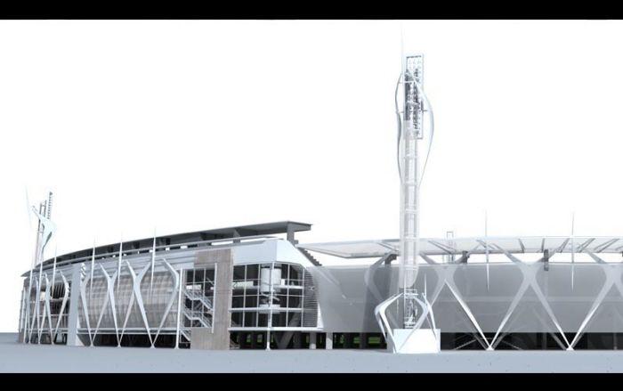 New Facade Stadium Bogota el Campin