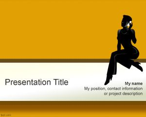 Free Talkative Woman PowerPoint Template is an awesome PowerPoint background and PPT template with a woman talking by phone in the cover slide design