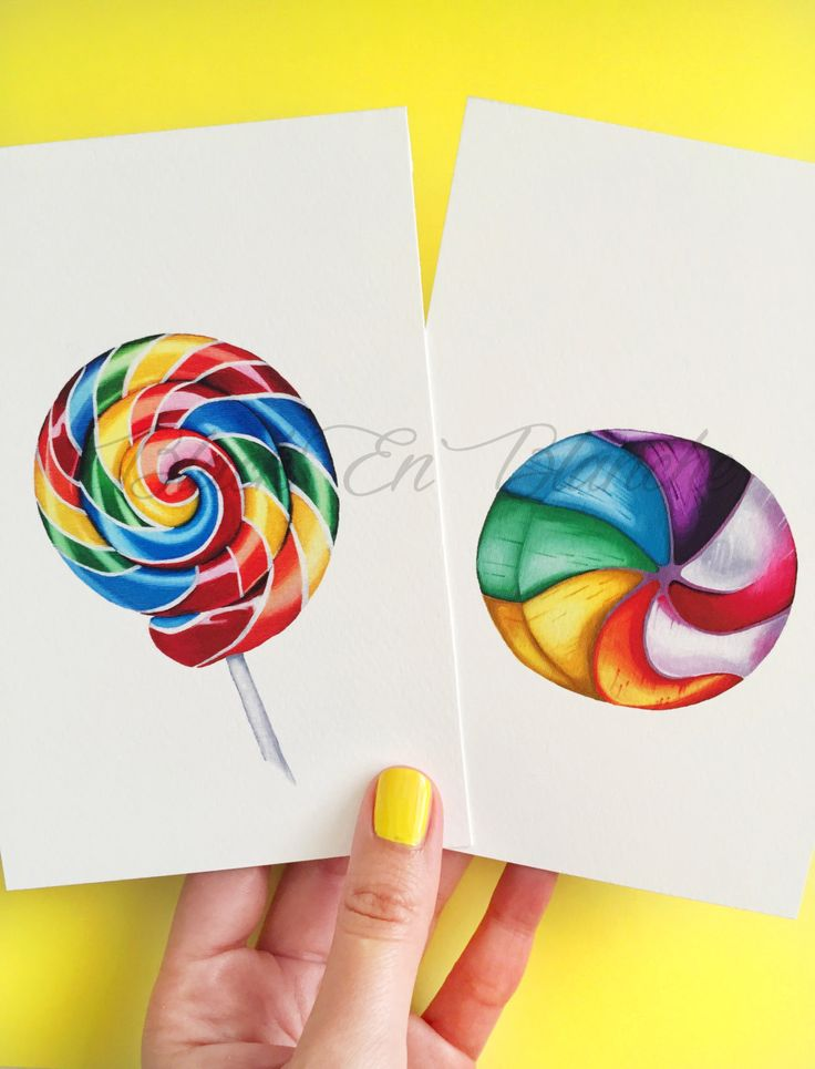 Rainbow Candy and Lollipop Swirl Art Prints, Set of 2, Candy Art, Sweets, Color, Hard Candy, Junk Food, Food Art, Kitchen Art, Dessert by BlackEnBlanche on Etsy