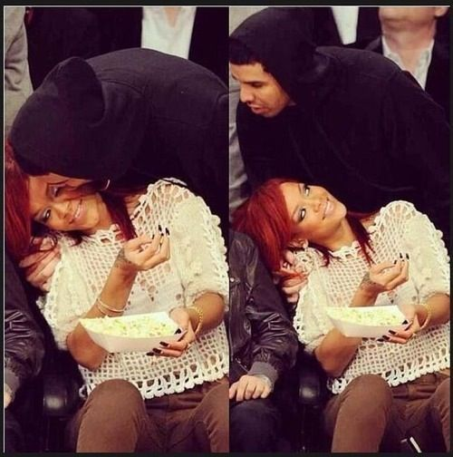 Drake & rihanna, they look happy together ❤️