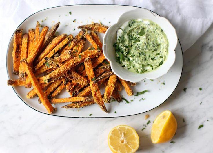 Recept: Oven-frietjes van zoete aardappel