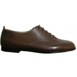 Chaussure homme, cuir couleur chocolat, Made in Romans