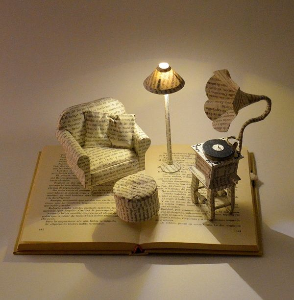 Unique book sculpture ideas on pinterest altered