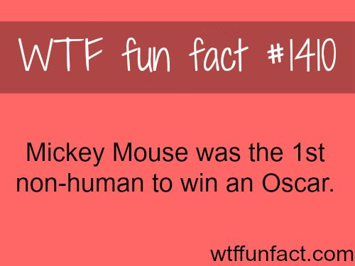 the first non-human to win an Oscar WTF FUN FACTS HOME / SEE MORE tagged/ disney and movies FACTS