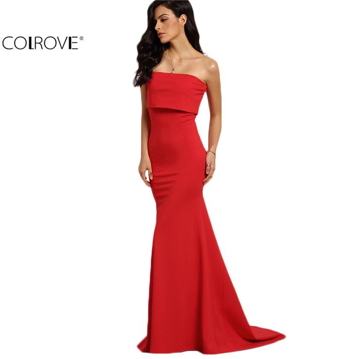 COLROVE Summer Style Elegant Sexy Occasion Red Strapless Maxi Dresses  New Arrival New Sleeveless Long Dress $42.14   => Save up to 60% and Free Shipping => Order Now! #fashion #woman #shop #diy  http://www.greatdress.net/product/colrove-summer-style-elegant-sexy-occasion-red-strapless-maxi-dresses-2016-new-arrival-new-sleeveless-long-dress/