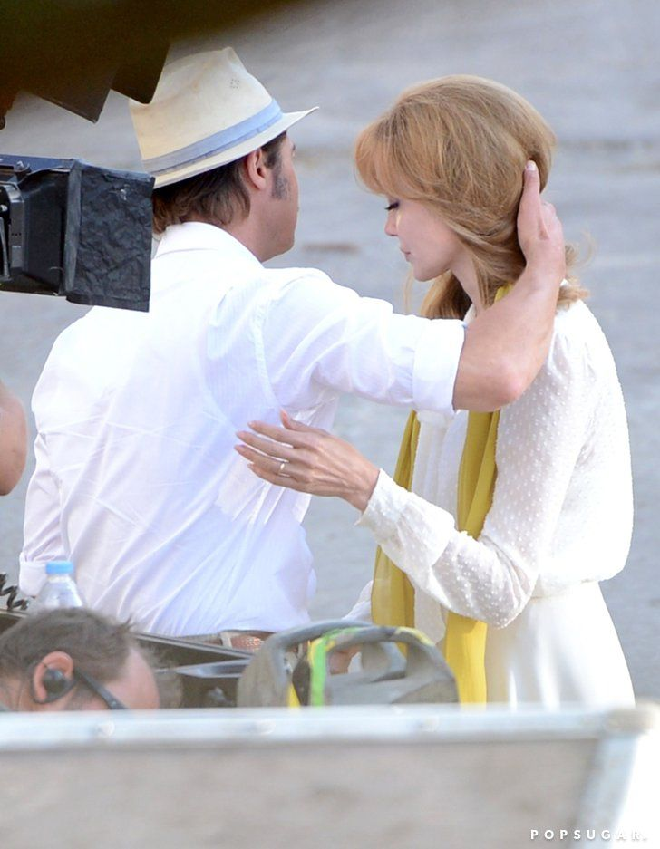 Pin for Later: Newlyweds Angelina Jolie and Brad Pitt Film a Romantic Scene in Malta