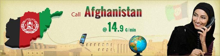 Make cheap international calling to Afghanistan, Low cost long distance call rates and plans to Afghanistan from Canada. No need of expensive Afghanistan phone calling cards.