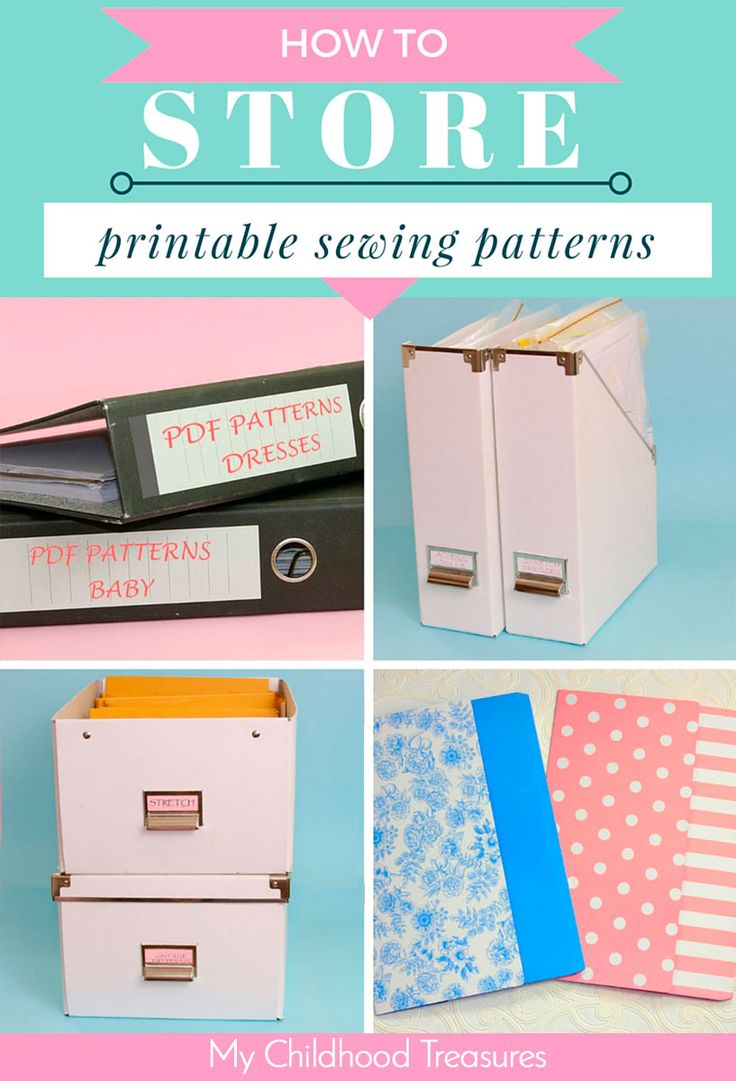 8 easy ways to store your printable sewing patterns