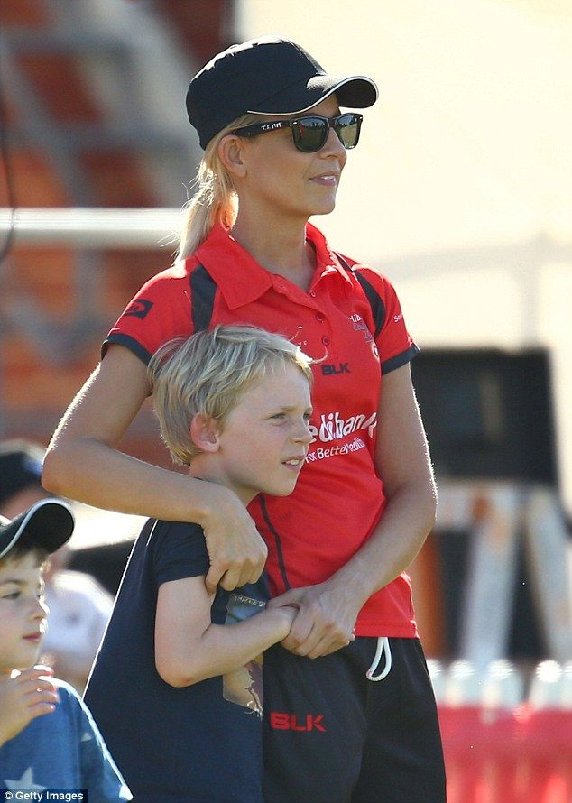 Doting mother: When she gave birth to her first child Ollie in 2007, the TV host dove stra...
