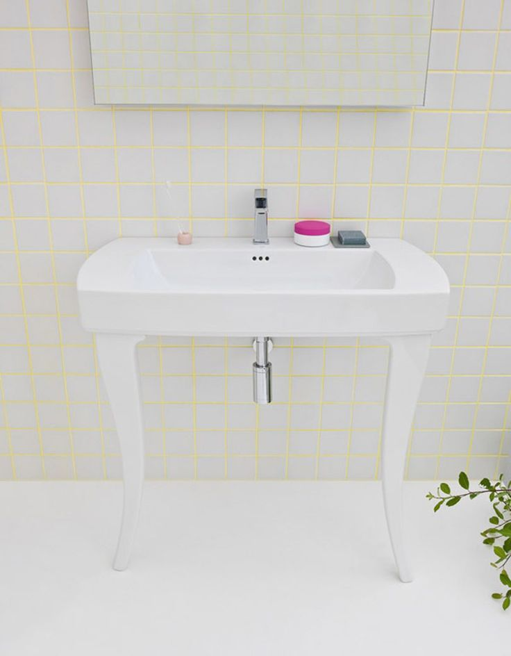 Jazz, design Meneghello #bagno #bathroom #design #decor #white #console #Artceram