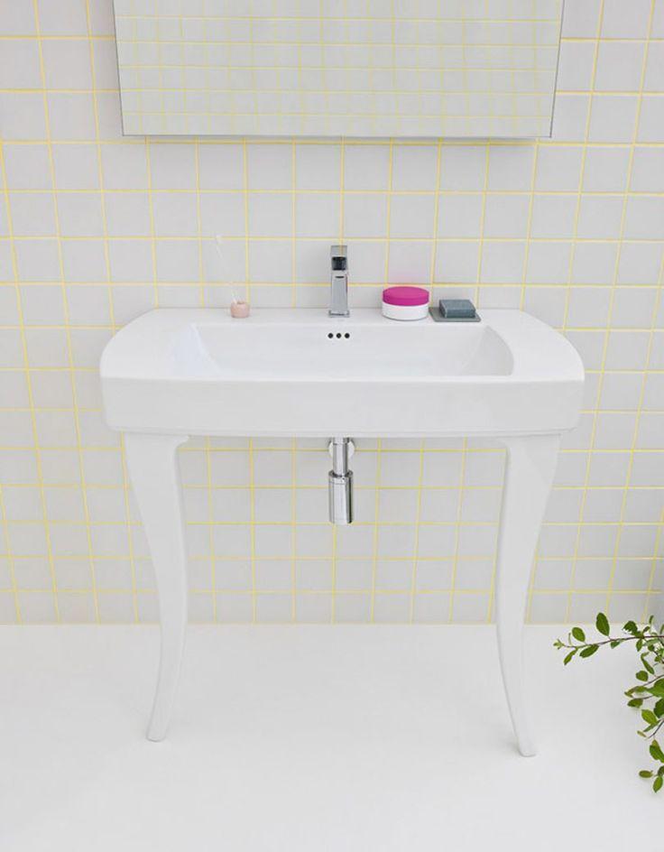 Jazz, design Meneghello #bagno #bathroom #design #decor #white #console #Artceram