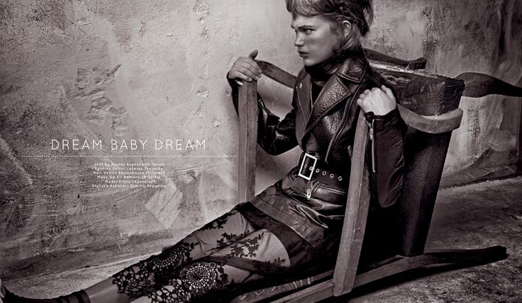 ISSUE #108 #New Sensation DREAM BABY DREAM Shot By Kostas Avgoulis( D-Tales) Fashion Editor: Lazaros Tzovaras Hair: Vasilis Bouloubasis (D-tales) Make up : Efi Ramone(D-tales) Model: Klelia (Agencia) Stylist's Assistan: Dimitra Papanika