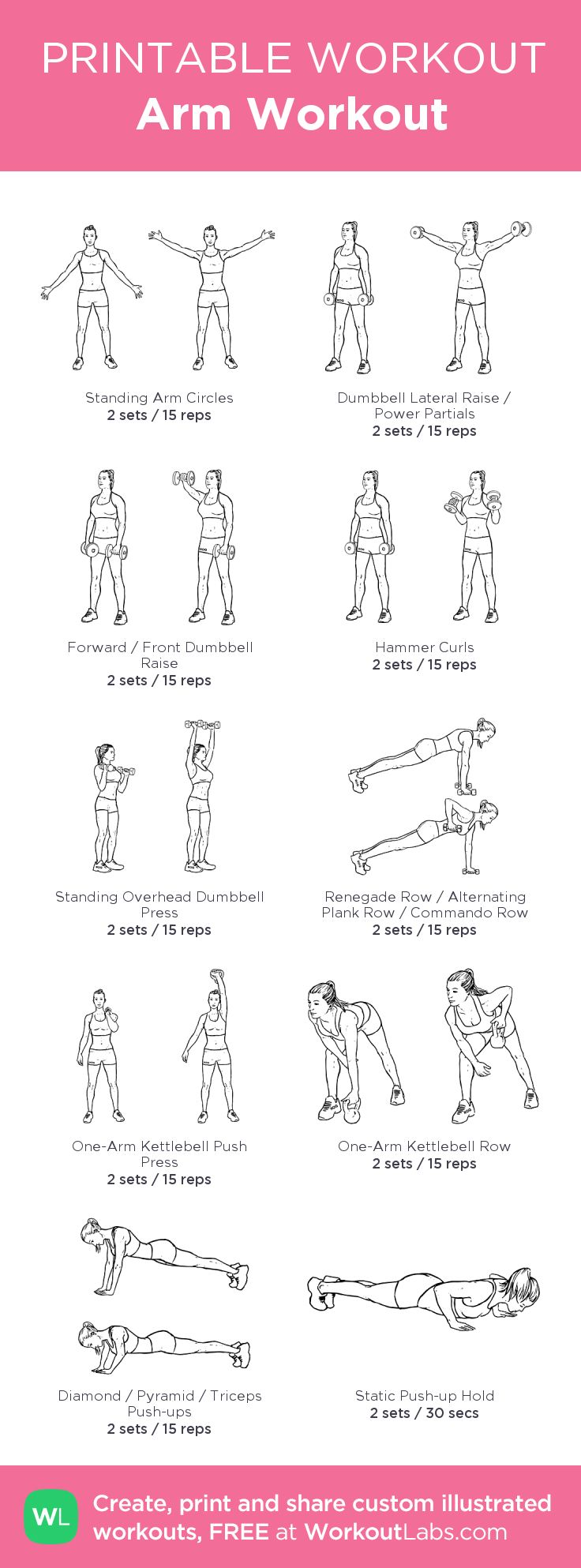 Arm Workout: my visual workout created at WorkoutLabs.com • Click through to c…