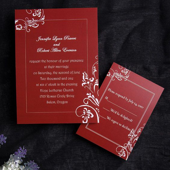 38 Best Red Wedding Invitations Images On Pinterest