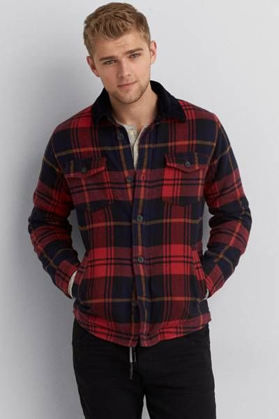 AEO Flannel Jacket  by AEO | We hit refresh on the iconic flannel jacket.  Shop the AEO Flannel Jacket  and check out more at AE.com.