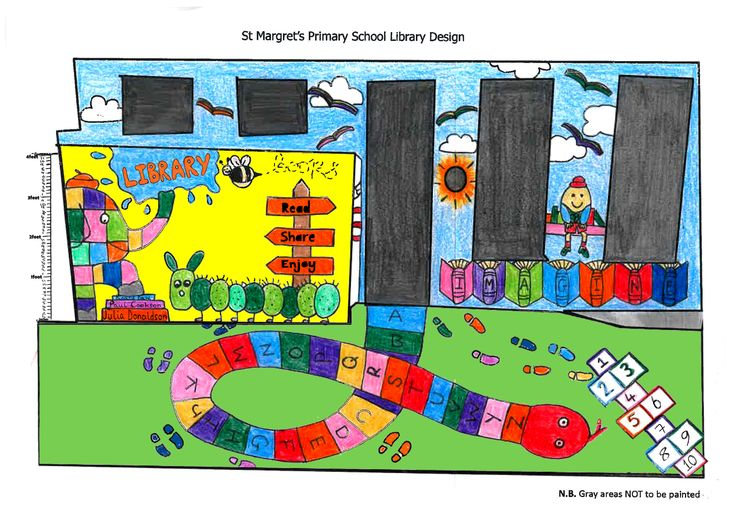 Art students created a mural for local primary school St Margarets.