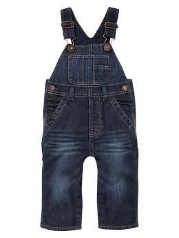 Lined overalls (dark wash) | Gap @Cheryl Stone these come in newborn sizes!