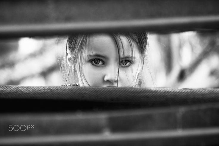 Regard - a child with an intense look