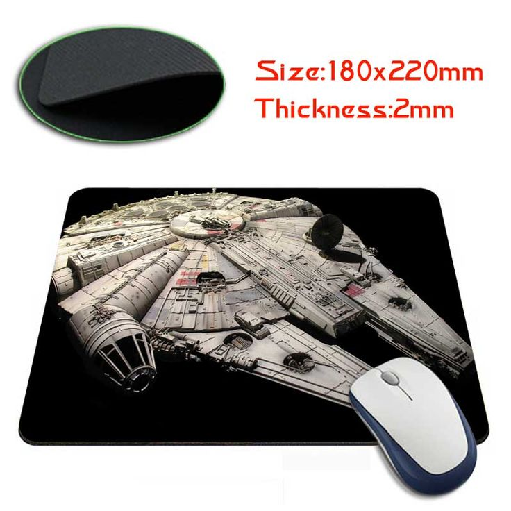 millennium falcon star wars Best Soft Gaming Mouse Games Black Desk Mousepads