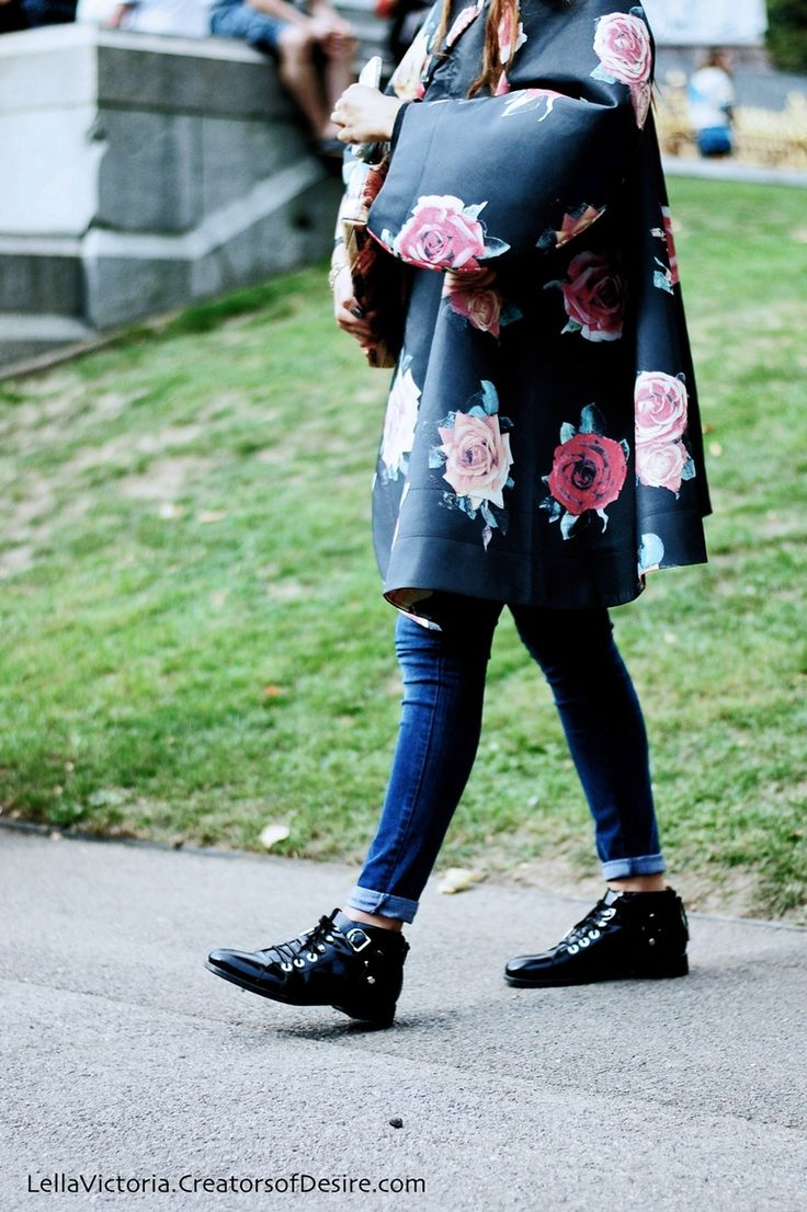 On The Streets: Floral Coats