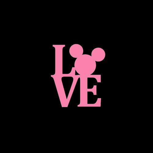 Love Mickey Mouse Car Window Decal Sticker