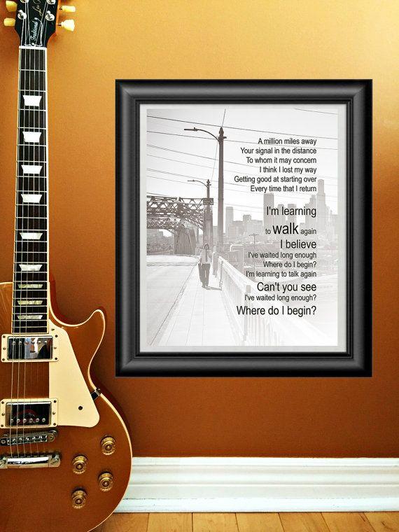 Walk by Foo Fighters printable wall art  by PrintableSongParts