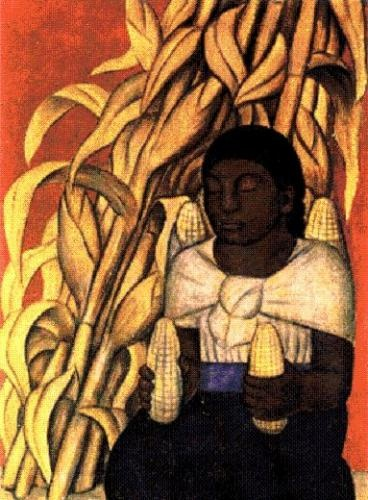 by Diego Rivera (Dec 8, 1886 – Nov 24, 1957) Prominent Mexican Muralist/Painter & husband of Frida Kahlo. His large wall works in fresco helped establish Mexican Mural Movement in Mexican art. Wikipedia  http://www.cainonline.com.ar/noticia-3946-muralistas-mexicanos-diego-rivera.html