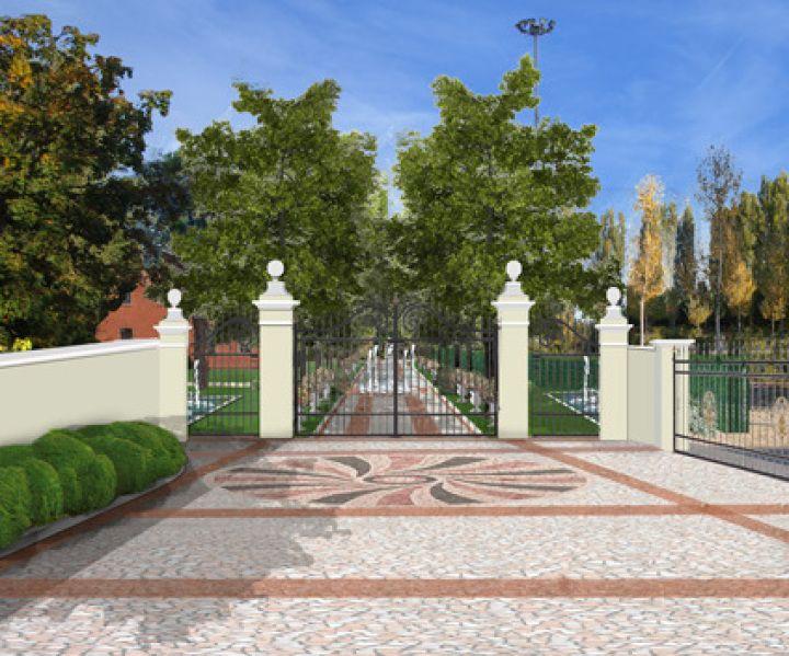 Progetto Giardino Online - la villa veneta: pavimentazione
