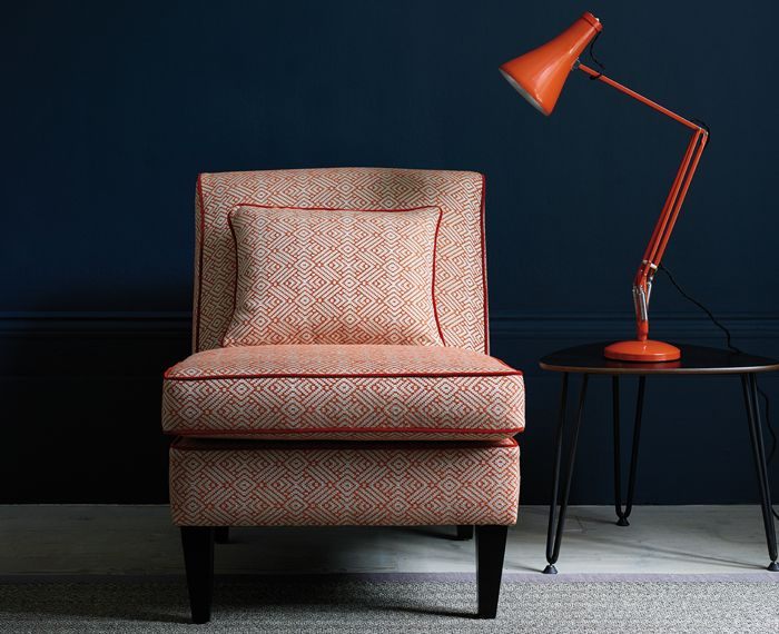 The Fable Range by Linwood Fabrics. Chair - Kitsune | Tango | LF1929C/4 Piping of chair - Omega | Carnelian | LF1528FR/72. http://www.linwoodfabric.com/product-category/fabrics/fable/