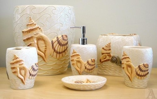 24 best images about bathroom on pinterest bathrooms for Seashell bathroom accessories