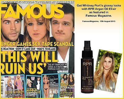 RPR Argan Oil as featured in Famous Magazine 12th August 2013 - News - RPR Hair Care Pty. Ltd.