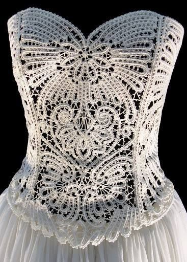 Crocheting Lace : ... point lace fleur au crochet irish lace mantilla crochet see more pin 1