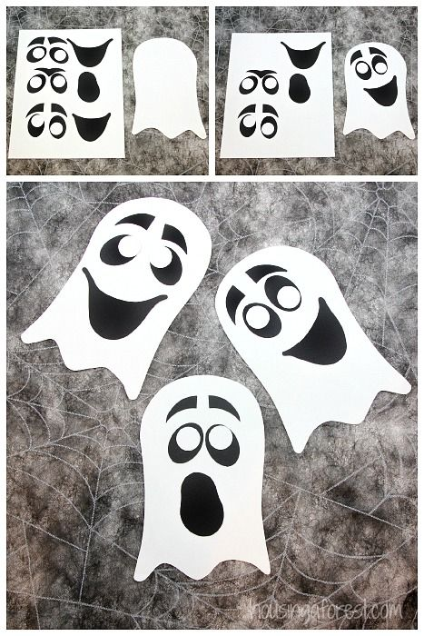 Ghost Craft for kids ~ Easy Halloween Craft with Printable PDF