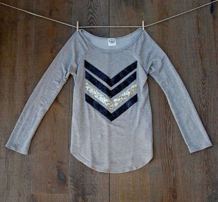 The Dazzle Me Chevron  w/ Sequin Chevron/Arrow Design Shirt - Liam Payne Tattoo Chevron Shirt Now Available in XL by ICaughtTheSun on Etsy