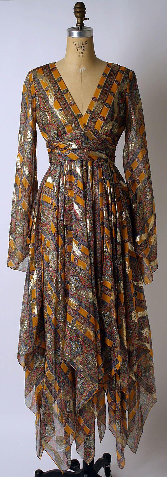 Cocktail Dress, American  Bill Blass  1967  Silk, synthetic  Metropolitan Museum of Art