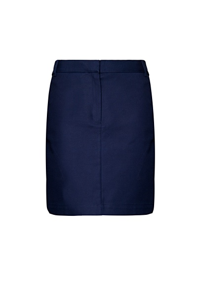 Navy straight skirt by Mango