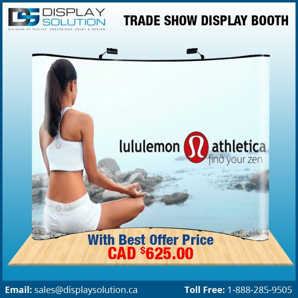 #Perfection of #promotions this #trade #show #display #booth, get with #cheap & #best on #Displaysolution. For more info https://displaysolution.ca/trade-show-display-booths.html