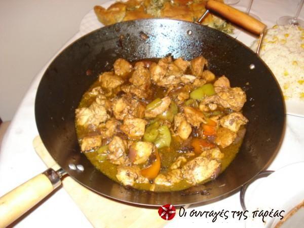 Κοτόπουλο με σάλτσα μέλι - μπαλσάμικο και λαχανικά #sintagespareas