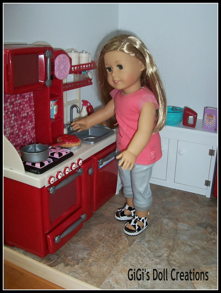 Custom Kitchen Cabinet Tutorial from GiGi's Doll Creations