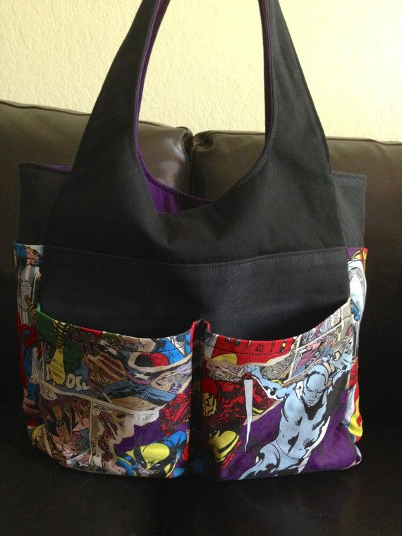 lots of pocket tote bags 10 handpicked ideas to discover in other zippers purses and amy butler. Black Bedroom Furniture Sets. Home Design Ideas