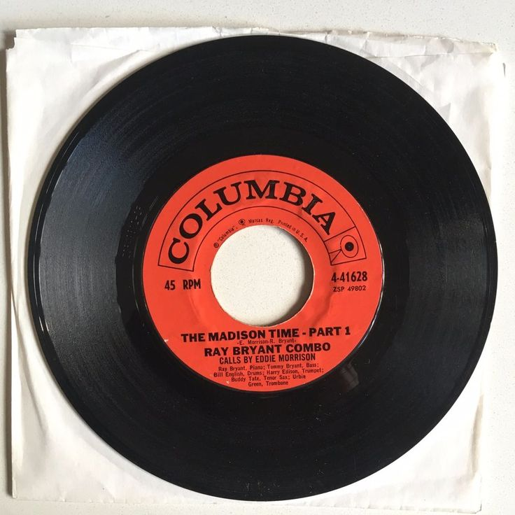 """RAY BRYANT COMBO The Madison Time Parts 1&2 7"""" 1960 Columbia 41628 dancer #ClassicRBFunkSoul"""