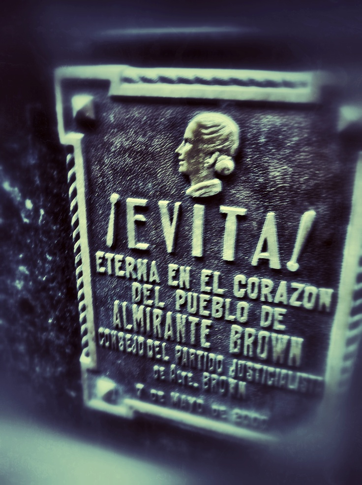 The Recoleta Cemetery. One of the most visited 'residents' is Maria Eva Duarte de Perón - more commonly known as Evita.