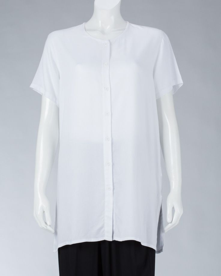 Women's long shirts - White #WomenSkirt #Dress #SummerFashion #Animale #WomenWear #WomenFashion #MotifClothes #LightClothes