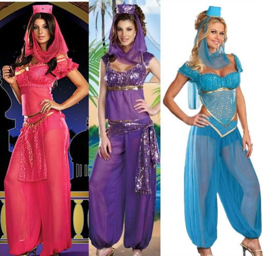 Womens Fancy Dress Jasmine Tops Pants Aladdin Arabian Nights Princess Costume #Unbranded #CompleteOutfit #HalloweenCosplayParty