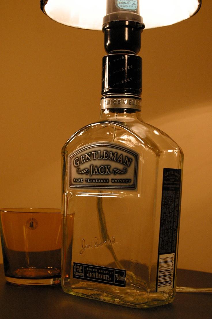 40 best whisky lamps images on pinterest bottle lamps whiskey gentleman jack whiskey bottle lamp 4000 via etsy arubaitofo Choice Image