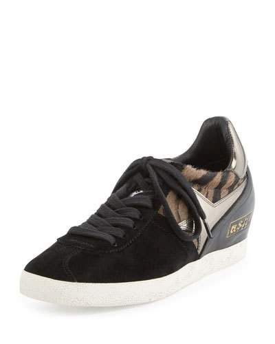 S0QJ8 Ash Guepard Hidden-Wedge Sneaker, Clay/Black