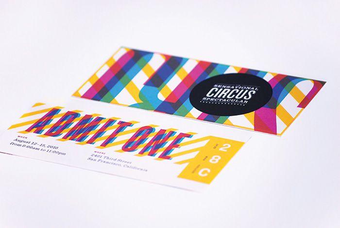 Beautiful circus ticket design by Nathan Godding.
